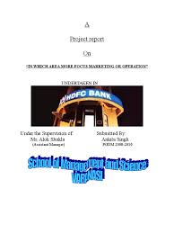 a project report on custmer satisfaction regarding hdfc bank