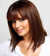 medium length haircuts with bangs for fine hair 1000 ideas about