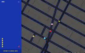 Google Maps New York by Google Maps Turns Into Pac Man U0027s Chomping Grounds The Japan Times