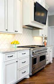kitchen tv ideas tv stand lovely kitchen features ivory cabinets adorned with