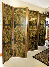 Folding Screens Room Dividers by Encore Furniture Gallery 6 Panel Botanical Floral Painted Folding