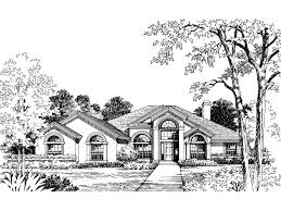 Spanish Style Floor Plans by Elam Spanish Sunbelt Style Home Plan 047d 0051 House Plans And More