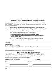 how to get a resale certificate printable governmental templates