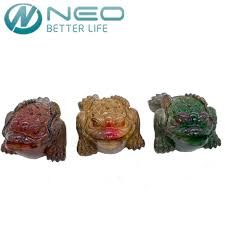 neo multicolor resin color changing lucky money toad figurine frog