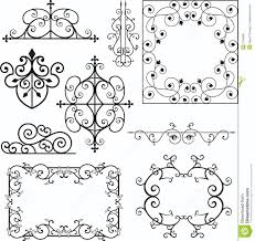 wrough iron ornaments royalty free stock photos image 3739668
