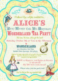 alice in wonderland invitations blank template mad hatter