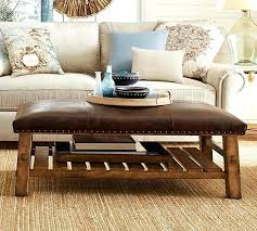 Leather Ottoman Coffee Table Rectangle Faux Leather Ottoman Coffee Table Beaconinstitute Info