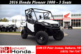 new 2016 honda pioneer 1000 3 seats at bathurst honda b6484