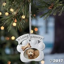 amazon com loving memory dog memorial christmas ornament photo