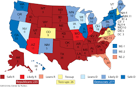 Colleges In Virginia Map by Larry J Sabato U0027s Crystal Ball Ratings Changes Obama U0027s Debate