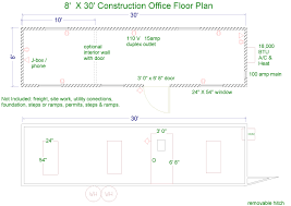 construction site plan floor plans for jobsite trailers