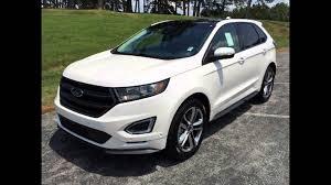 Ford Edge Safety Rating 2016 Ford Edge White Platinum Youtube