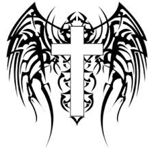 cross clipart image cross with wings tattoo design
