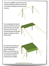 How To Build An Awning Frame Using A Tarp With Your Tent Stay Dry While Camping