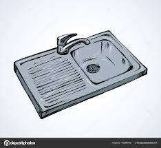 dessin evier cuisine évier de cuisine dessin vectoriel image vectorielle marinka