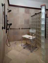 accessible bathroom with masculine luxuryuniversal design style