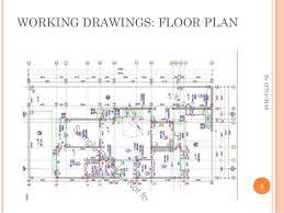 working drawing floor plan house design sample drawings