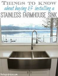 pictures of farmhouse sinks things to know about buying installing a stainless steel farmhouse