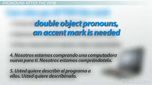 correct placement of object pronouns in spanish video u0026 lesson