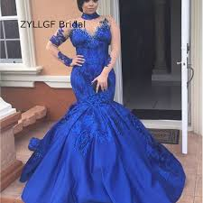 aliexpress com buy zyllgf bridal royal blue mermaid prom