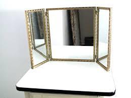 tri fold bathroom mirror tri fold vanity mirror with lighted lighted fold makeup vanity