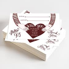 wedding song request cards pack of 50 song request cards sr0001 12 99 nancyandflo