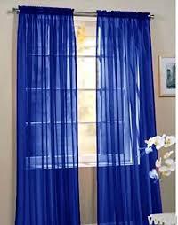 Blue Sheer Curtain 2 Beautiful Sheer Window Royal Blue Elegance