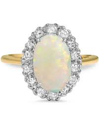 Antique Wedding Rings by Opal Engagement Rings That Are Oh So Dreamy Martha Stewart Weddings