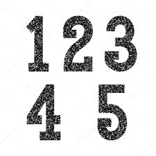Font Spray Paint - one two three four five black stencil spray paint numbers