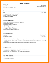 Resume For 1st Job by Resume Builder For High Students With No Work Experience
