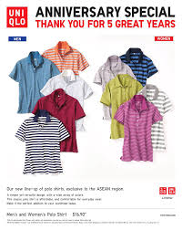 polo shirt singapore uniqlo celebrates 5th anniversary in singapore with exclusive