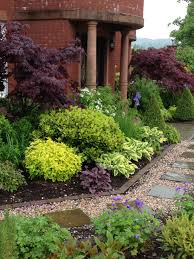 Landscape Ideas For Front Of House by Mixed Plants U0026 Shrubs Border Lookit That Johnson U0027s Blue Hardy