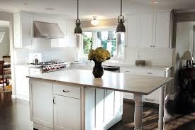 kitchen small kitchen with teak floor and white freestanding