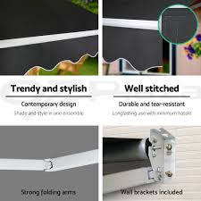 Folding Arm Awnings Ebay 4m X 3m Outdoor Folding Arm Awning Retractable Sunshade Canopy