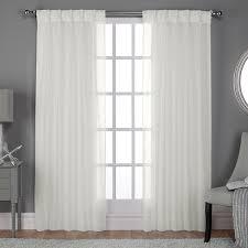 Pinch Pleated Semi Sheer Curtains Ati Home Belgian Linen Look Sheer Curtain Panel Pair W Pinch