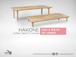 hakone big coffee table tv console u2013 w1200 comfort design