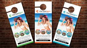 door hanger flyer template tour travel door hanger template magazine templates creative