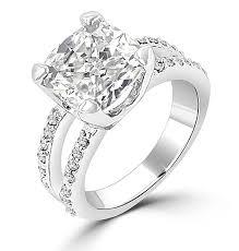 cushion cut split shank engagement rings carat cushion cut cz split shank engagement ring