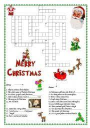 intermediate esl worksheets christmas crosswords