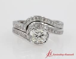 Engagement Ring With Wedding Band by 2 Heart Shaped Bow Diamond Ring In 14k Rose Gold Fascinating