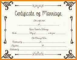7 certificate fake marriage printable weekly template