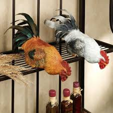 kitchen gorgeous rooster kitchen decor and black open racks with