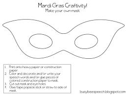 make your own mardi gras mask mardi gras mambo freebie busy bee speech