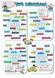 collocations make do have take free esl worksheets my