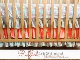 ruffled crib skirt tutorial the ribbon retreat blog nursery