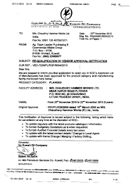 Certification Approval Letter Certifications Product System Certification Chw Forge