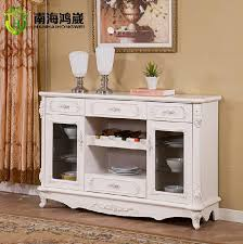 Dining Room Storage Cabinets Wei Upscale French Continental White Wood Dining Room Furniture