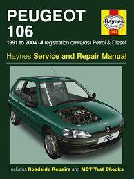 peugeot 106 petrol u0026 diesel 91 04 haynes repair manual