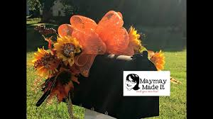 halloween mailbox covers fall mailbox topper tutorial youtube