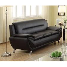 norton black faux leather modern living room 77